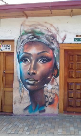 Graffiti-Kunst in Bogota
